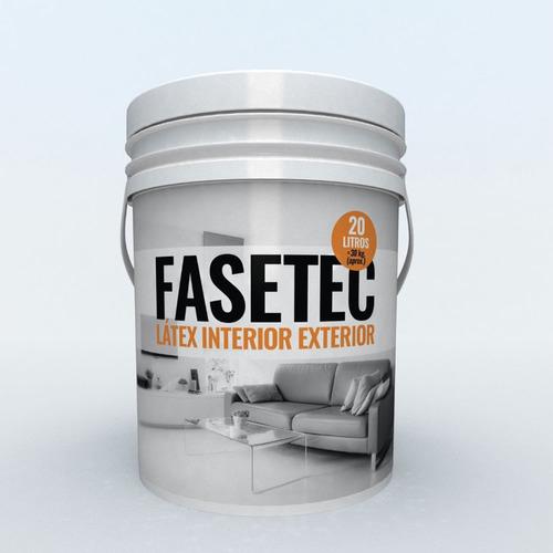 pintura latex interior exterior fasetec 20 lts antihongos polacrin lavable acrilica mate color blanca cubritiva