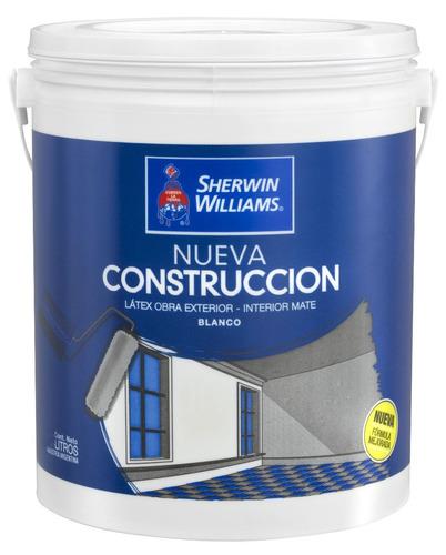 pintura latex interior exterior mate 20 lts sherwin williams