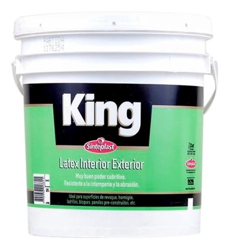 pintura latex king interior exterior x 4lts muy cubritiva