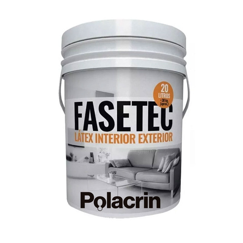 pintura latex lavable acrilica color blanca 20 litros polacrin paredes yeso madera mate alto poder cubritivo