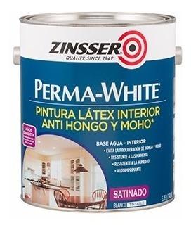 pintura latex perma white satinado antihongo 4 lts gema