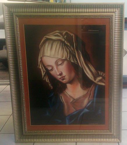 pintura madona tecnica pastel autor javier de maria