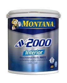 pintura montana av-2000 interior blanco mate (clase a)