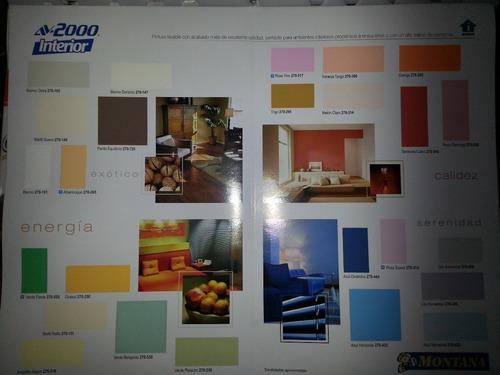 pintura montana av-2000 interior lavable clase a