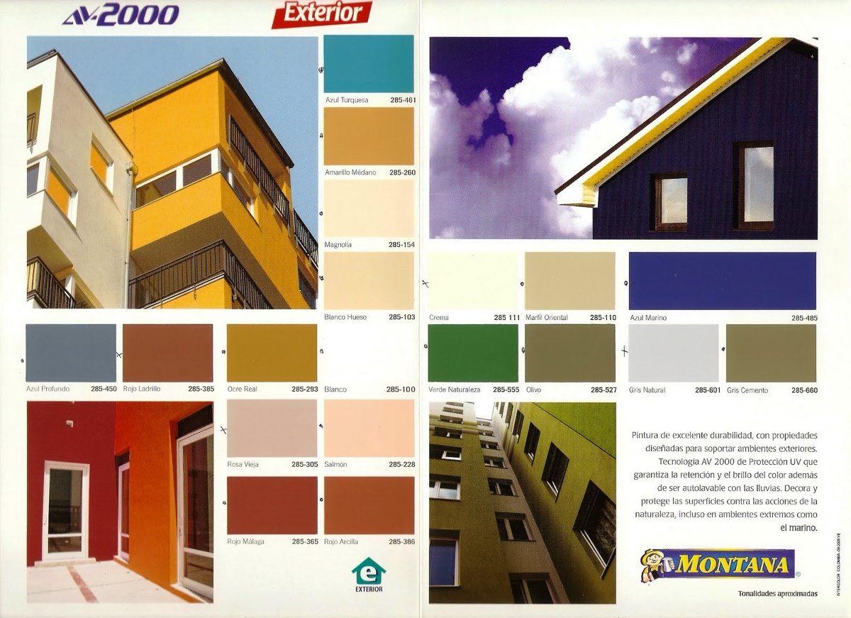 Pintura montana av2000 exterior bs en for Colores de pinturas exteriores de moda