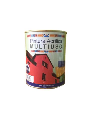 pintura multiuso,pisos,exterior,interior 1lt.azul egeo elbex