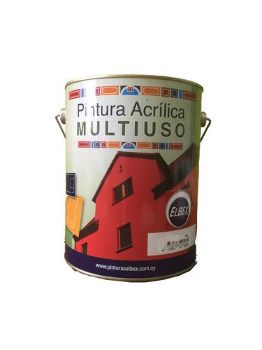 pintura multiuso,pisos,exterior,interior. 4lt. negro elbex