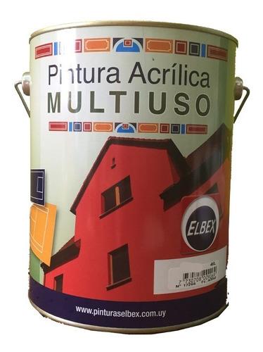 pintura multiuso,pisos,ext,int. 4lt.rosa elbex puntocolor