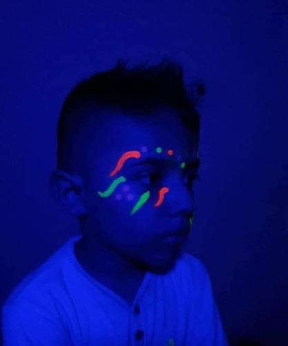 pintura neón fluorescente set 5 colores