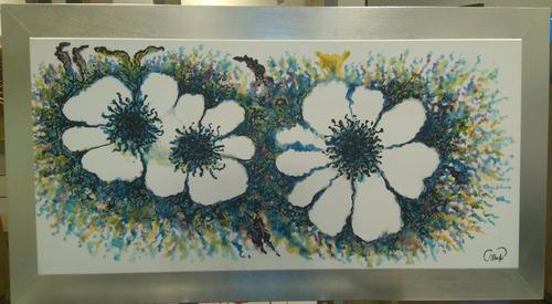 pintura oleo flores claridad