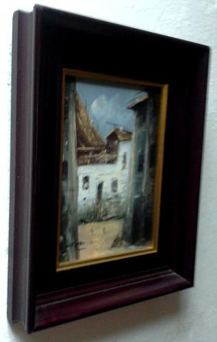 pintura óleo pueblo casa blanca de antonio iglesias sanz