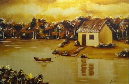 pintura óleo sobre