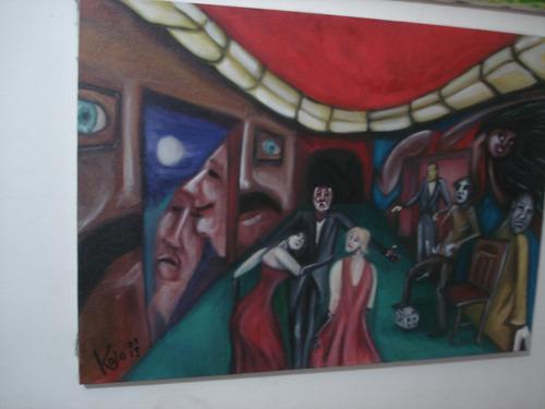 pintura óleo sobre tela 50x70 - paredes desenhadas