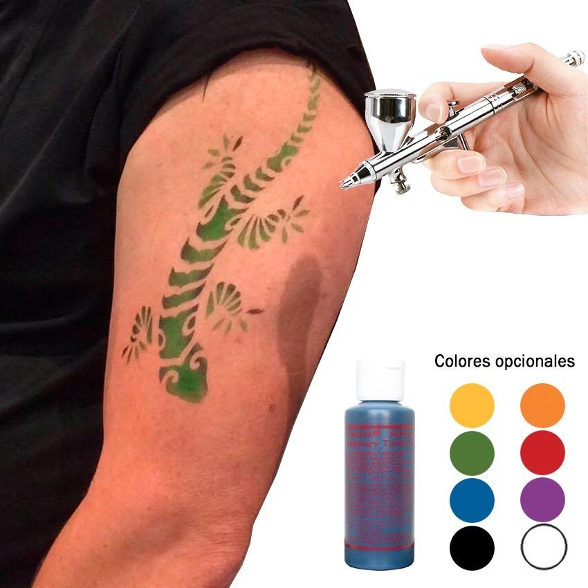 Pintura Paasche 2oz Tatuaje Temporal P Aerografo Negra 58700