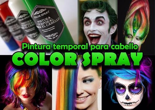 pintura para cabello temporal con atomizador varios colores