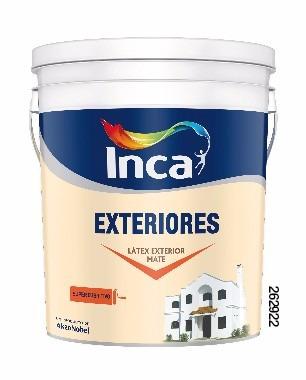 pintura para exteriores blanco inca 20 litros.