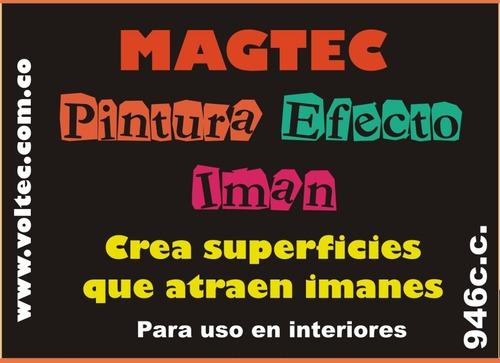 pintura para imanes / efecto magnetico 1/4 gal