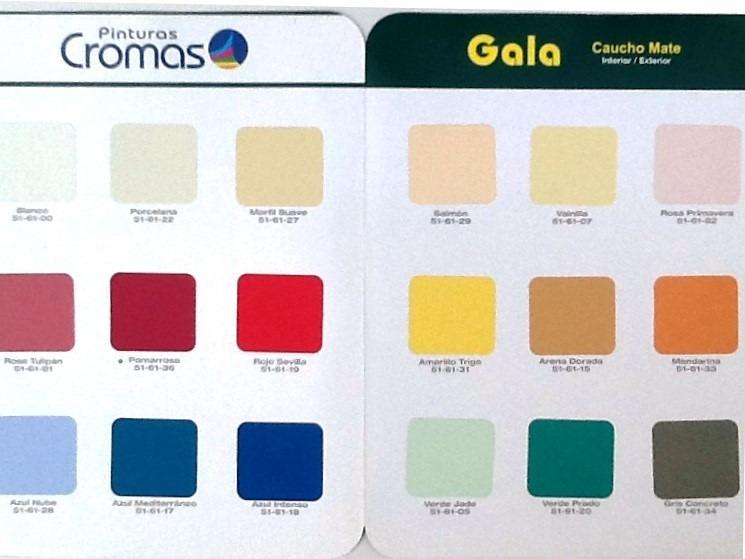 Pintura para paredes gala mate cromas en galon bs 35 - Precio pintura pared ...