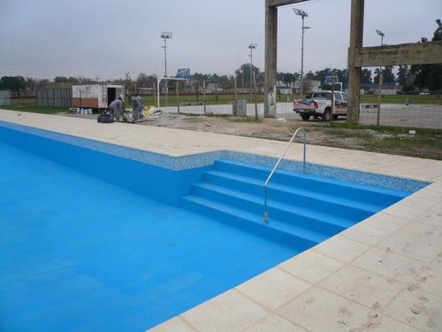 pintura para piscinas 10m2 celeste pacifico por 1 litro