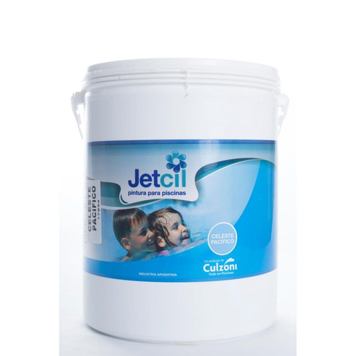 pintura para piscinas jetcil celeste pacifico por 4 litros