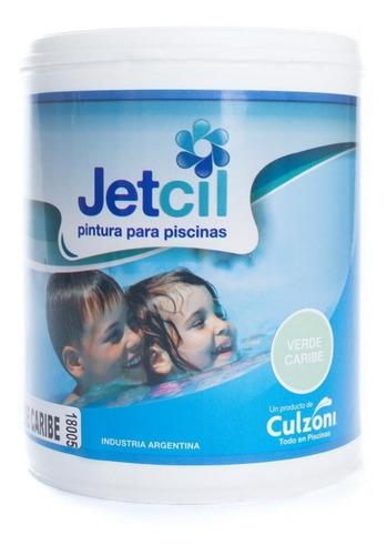 pintura para piscinas jetcil verde caribe por 1 litro
