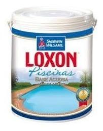 pintura para piscinas loxon azul de sherwin williams galon