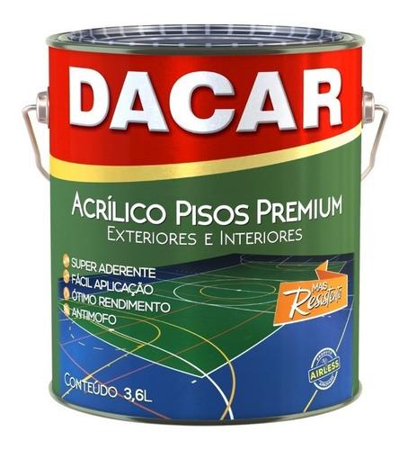 pintura para pisos dacar premium latex acrílico 3,6l