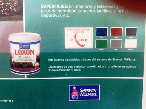 pintura para pisos loxon pisos color gris galon oferta!!!!