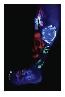 pintura para tatuaje temporal  2 oz pro aiir fluorescente