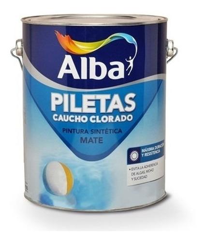 pintura pileta/piscina alba caucho 4l + 2 flotadores pintumm