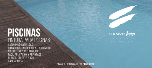 pintura piscinas pro 20lt sanyo jafep envío gratis* + promo