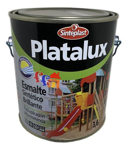 pintura platalux esmalte sintético blanco brillante 3.6lt ff
