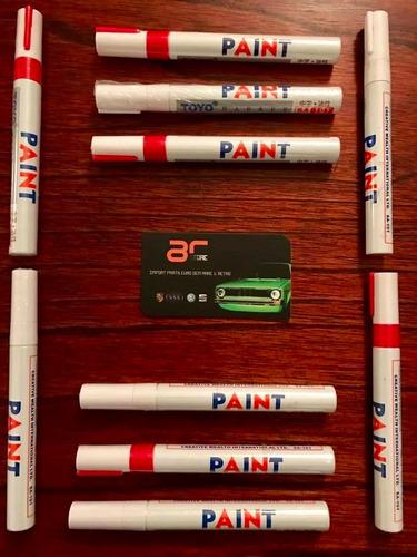 pintura plumon marcador letra llantas carro moto rojo blanco