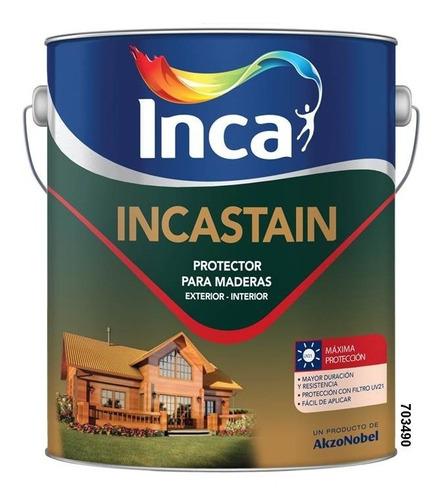 pintura protector de madera inca incastain 4lts envio gratis