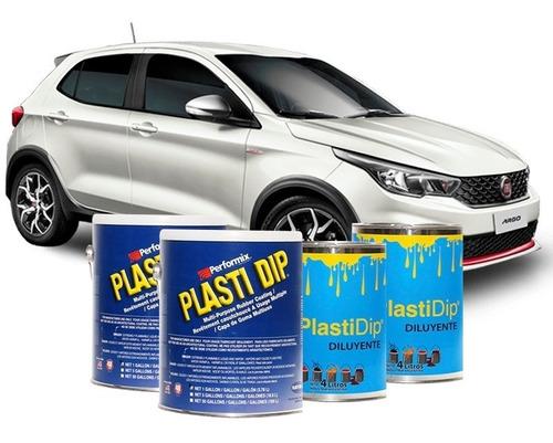pintura removible plasti dip p/ fiat argo galon x2 + diluyentes x2 autos tuning protección personalización