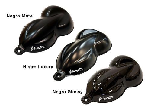 pintura removible plastidip aerosol negro mate black