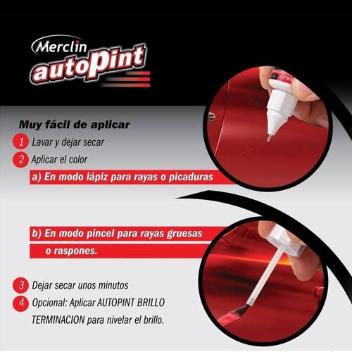 pintura retoque autos autopint + aditivo lavaparabrisas mm