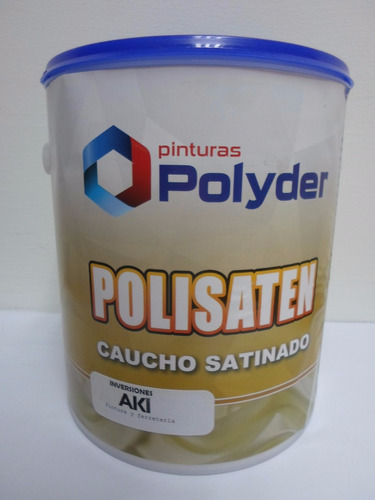 pintura satinada polisaten blanco galon polyder pd-cs