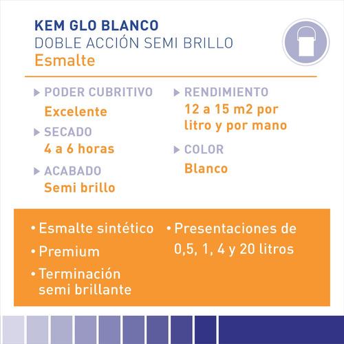 pintura sherwin williams esmalte kem glo blanco 1lts