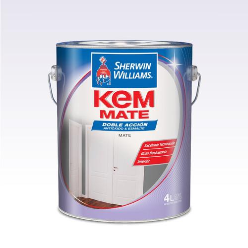pintura sherwin williams esmalte kem mate blanco 1lts