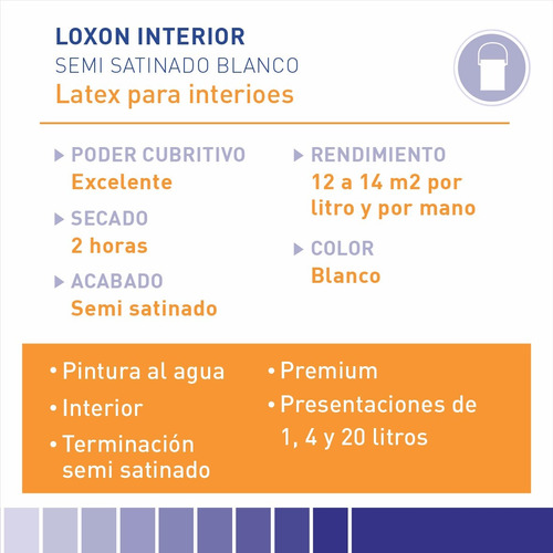 pintura sherwin williams loxon int. soft touch blanco 4lts