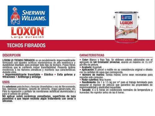 pintura sherwin williams loxon ld techos fibrados 20kg
