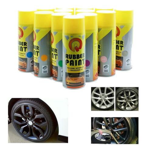 pintura spray plastica removible tipo plastidip auto karvas