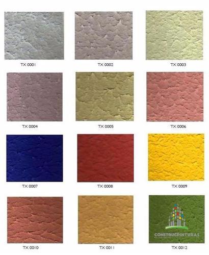 pintura texturizada clase a cuñete colores, revestimiento