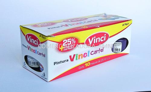 pintura vinci cartel c/10 25ml precio mayoreo $63.22 cotiza!