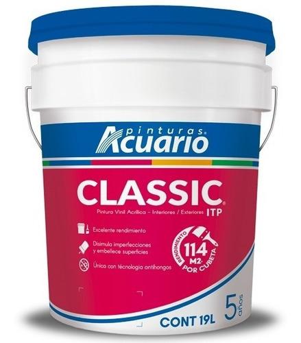 pintura vinílica classic acuario 19 litros  color blanco