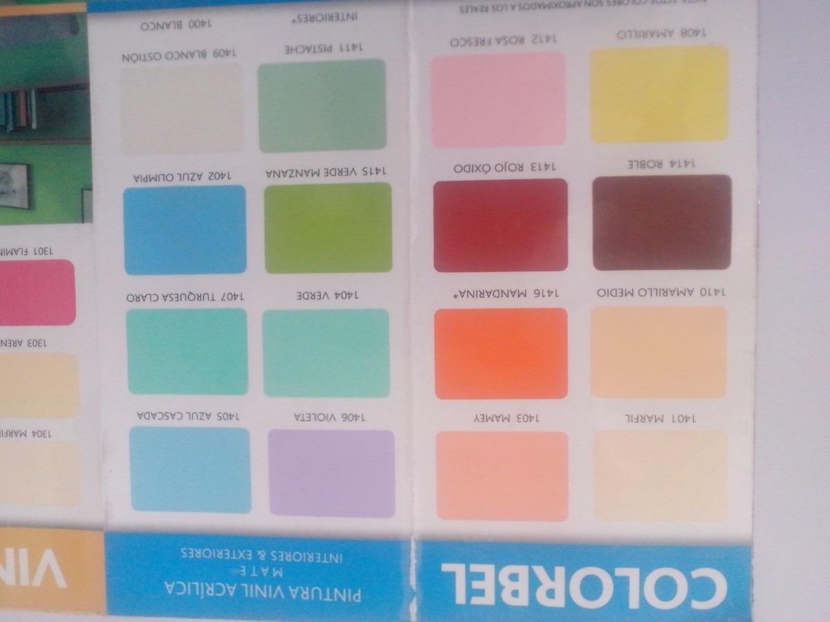 Pintura vinilica colorbel mate 3 a os ipesa calidad y for Gama de colores pintura