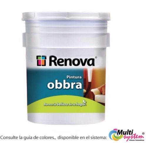 pintura vinilica renova obbra blanca envio incluido