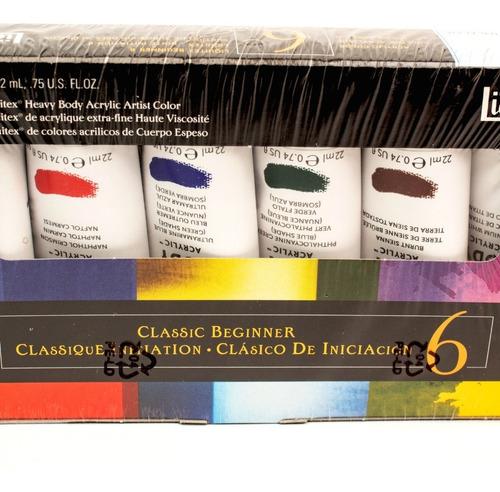 pinturas acrílica tubos colores luiquitex 6 piezas arte