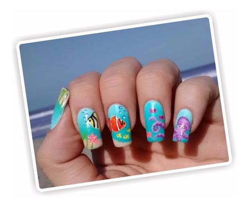 pinturas acrílicas decoración uñas